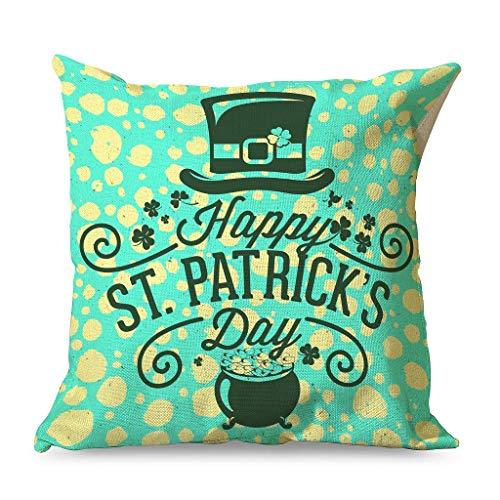 IOVEQG - Federa per cuscino in morbido cotone colorato con chiusura lampo, per divano o divano in famiglia, 45 x 45 cm, colore: bianco