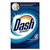 Dash Detersivo In Polvere per Capi Bianchi, 114 Lavaggi, Rimuove lo Sporco Ostinato in un solo Lavaggio