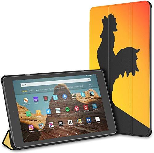 Funda para Cocks Crow In The Morning Fire HD 10 Tablet (9a / 7a generación, versión 2019/2017) Funda Protectora para Kindle Fundas Kindle Fire HD 10 Auto Wake/Sleep para Tableta de 10.1 Pulgadas