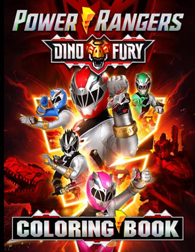 Power Rangers Dino Fury Coloring Book: Color Wonder Relaxation Coloring Books For Adults, Tweens (Many Pages Bring Happiness)