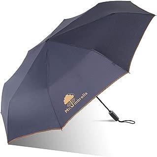 Automatic Umbrella Folding Umbrella Rain and rain Dual-use Umbrella Double Large Umbrella Parasol Four Colors Optional Huhero (Color : Gray)
