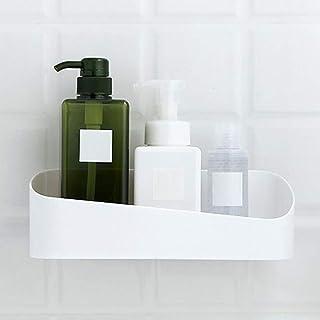 SurfMall Estantería para Baño Cesta de Ducha Adhesiva Decoracion Pared estantería de plástica Blanca