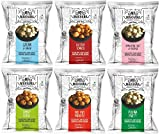 Mr. Makhana Roasted Makhana | Water Lily Seeds | Popped Lotus Seeds | Pack of 6 | (Variety Pack)