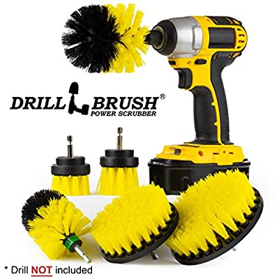 The Ultimate Drill Brush Attachment Spin Brush Power Scrubber Variety Cleaning Kit - Great For Shower Scrubbing, Carpet Cleaning, Grout Scrubbing, and Tile Cleaning