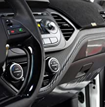 Doctc Carbon Decal Dash Point Sticker 1-pc Set For 2011 2012 Kia Picanto : New Morning (B-type/manual)