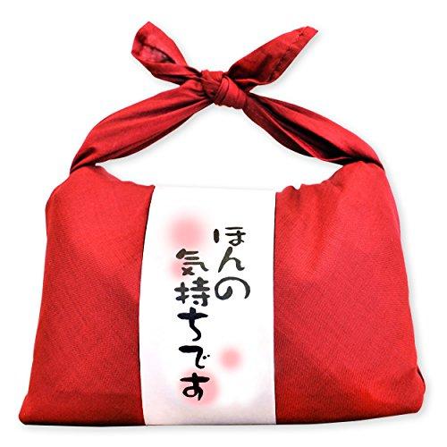お米ギフト バンダナ包み (ほんの気持ちです×赤) 新潟県産 魚沼産コシヒカリ 白米 600g(300g×2袋入) 令和2年産