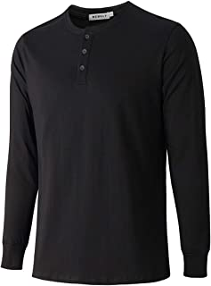 WEMELY Men's Walden Long Sleeve Blended Thermal 3 Button Henley Shirt