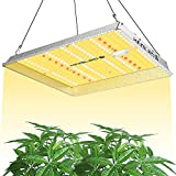 KINGPLUS UL1000 LED Grow Light 3x3ft Coverage Upgraded Full Spectrum Grow Lights for Indoor Hydroponic Plants Veg and Bloom Greenhouse Plant Light for Seed Starting with IR LEDs and Spotlight