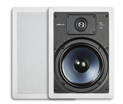 Polk Audio RC85i 2-Way Premium In-Wall 8″ Speakers (Pair) | Perfect for Damp and Humid Indoor/Outdoor Placement (White, Paintable Grille)