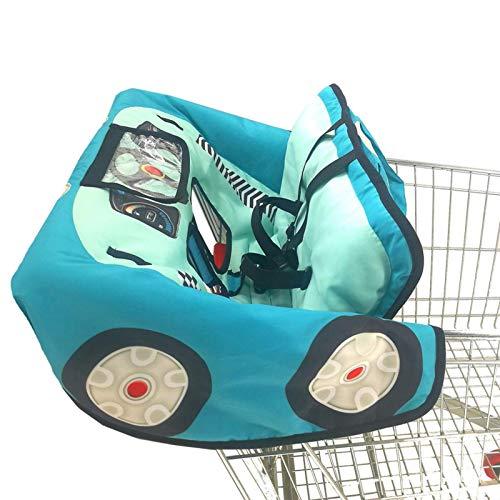 Magent Funda protectora para carrito de la compra para bebé, supermercado, cojín lavable, organizador suave, seguridad infantil