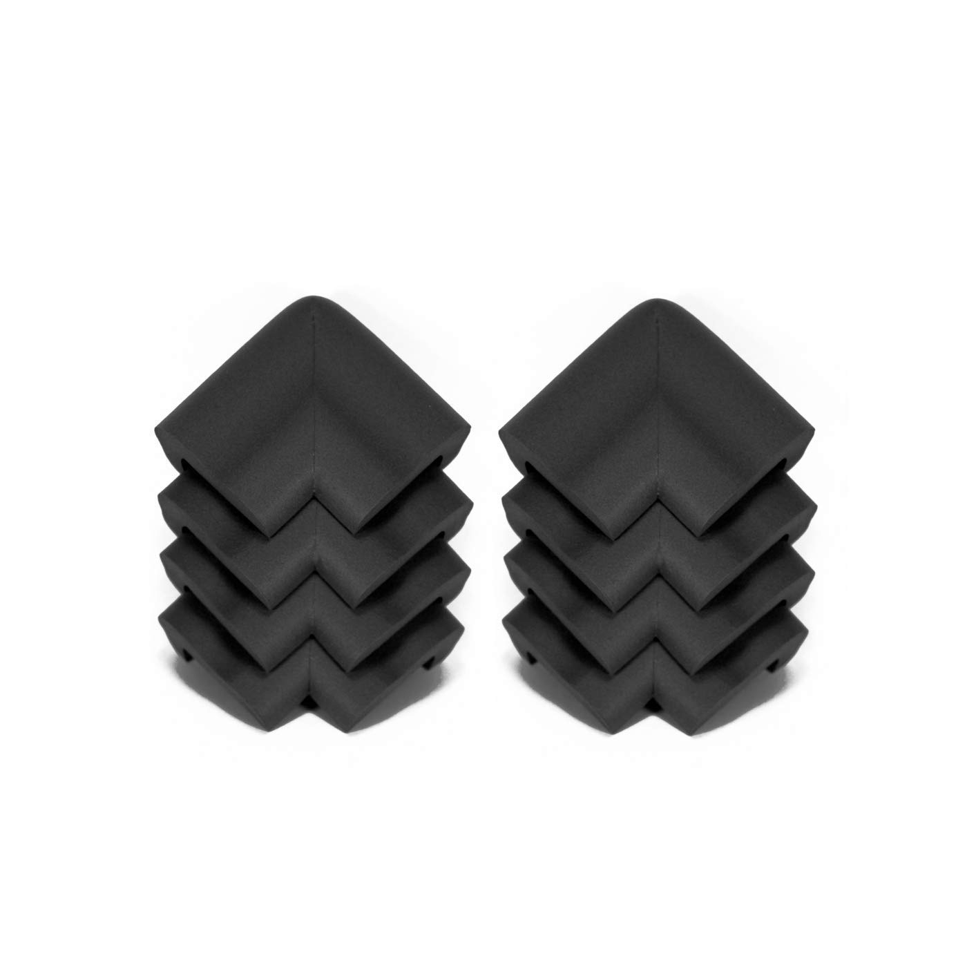 Kidkusion 8 Piece Jumbo Corner Guards, Black