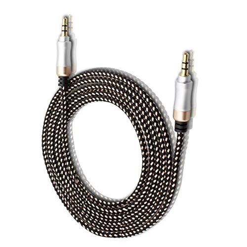 Ionix Aux Cable | Aux Cable for car 3.5mm aux Cable | Aux Cable for Headphone | 1.5 Meter Audio Cable | Aux Cable for car | 3.5mm Male to Male Aux, Speakers/Mobile/Headphone/Home (Gold)