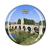España 3D Burgos nevera imán de cristal cristal imán turístico viaje recuerdo colección regalo magnético etiqueta engomada hogar cocina decoración