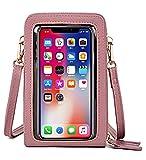 MAGIMODAC - Borsa a tracolla per telefono cellulare, touch screen, piccola borsa a tracolla, portafoglio inferiore a 6,5 pollici