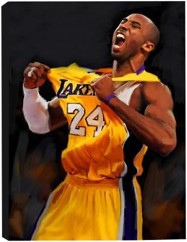 Amazon.com: Kobe Bryant 20x30 Stretched Canvas Art Print: Posters ...