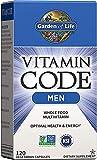 Garden of Life Vitamin Code Whole Food Multivitamin for Men, Fruit & Veggie Blend and Probiotics for Energy, Heart, Prostate Health, 120 Count