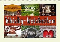 Whisky-Weisheiten (Wandkalender 2022 DIN A3 quer): Mit flotten Spruechen ueber Whisky durchs Jahr (Monatskalender, 14 Seiten )
