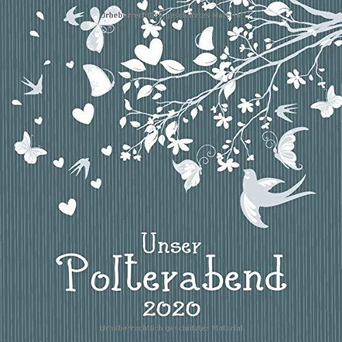 Unser Polterabend 2020: Gästebuch I Erinnerungsalbum zur freien Gestaltung I Ast mit Vögeln und...