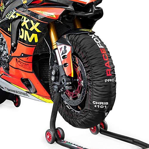 Reifenwärmer Tire Warmers Racefoxx Pro Digital Bis Max 99 C Superbike 120 17 Vorne Und 180 Bis 200 17 Hinten Für Motorradreifen Rennsport Heizdecken Auto