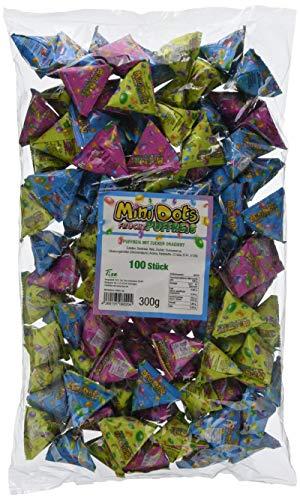 Tise Süsswaren Minidots Pyramiden Puffreis Gezuckert Wurfmaterial Karneval Fasching Geburtstage Events Veranstaltungen Partys Giveaway Kindergeburtstag Hochzeit, 100 Stück