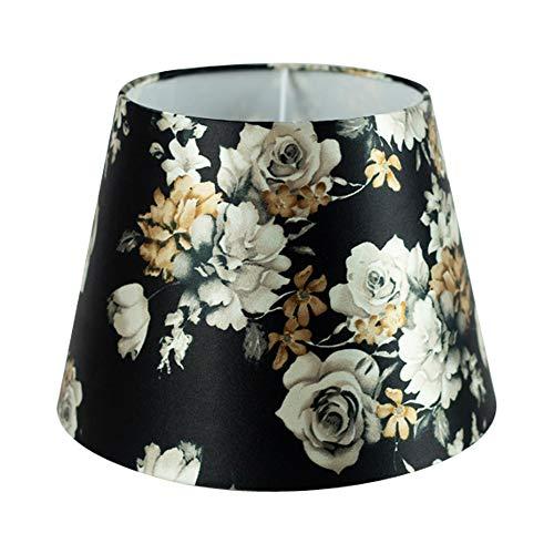 Wogati Premium Lampenschirm / Shabby Blumenmuster 25 cm x 16,5 cm x 18 cm/ Stoff / E14 / E27 / inklusiv Adapter