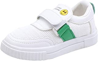 Super X Childrens Cartoon Smile Mesh Breathable Shoes White Shoes Sports Shoes