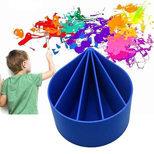 Acrylfarbe Gießen Split Cup 5 Kanäle Gießen Tasse Fluid Art Pour Supplies, 12 Unzen Polylactice Inverted Cup 5 Kanal, DIY Art Clay Tools Malerei Zeichenbehälter (1Pcs)