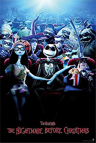 POSTER STOP ONLINE Tim Burton's Nightmare Before Christmas - Movie Poster/Print (3D Release Design) (Size 24' x 36')