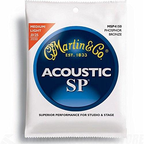 6. Martin MSP4150 SP Phosphor Bronze Acoustic Strings