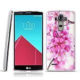 FUBAODA LG G4 Cover, 3D Rilievo Bel Fiore UltraSlim TPU Skin Cover...