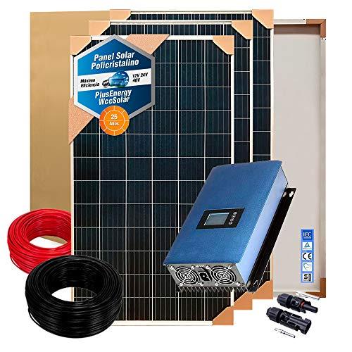 Kit Solar Autoconsumo 500w/2500w día Inversor Inyección a Red vertido cero