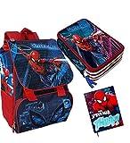 irp Set Scuola Spiderman Zaino Estensibile SP0609 + Astuccio + DIARIO