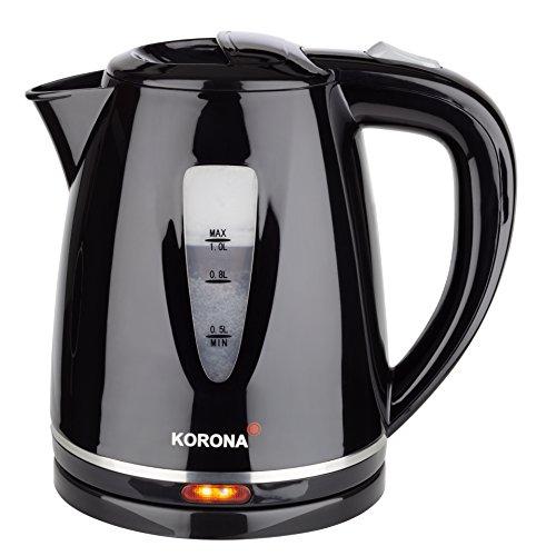 Korona 20115 Wasserkocher 1 Liter Fassungsvermögen in schwarz, Kunststoff