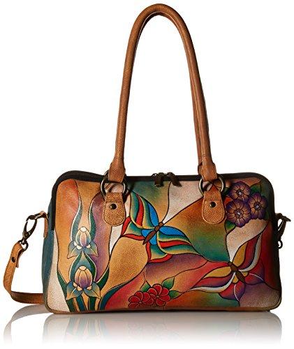 Fashion Shopping Anna by Anuschka Satchel Handbag | Genuine Leather