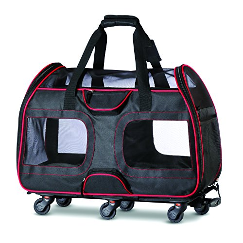 Katziela Pet Carrier with Removable Wheels - Soft Sided, Airline Approved Small...
