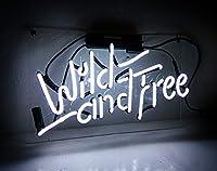 WILD AND FREE ネオンサイン led ライトNEON SIGN ビールバー 装飾壁 結婚式 インテリア14*8インチ