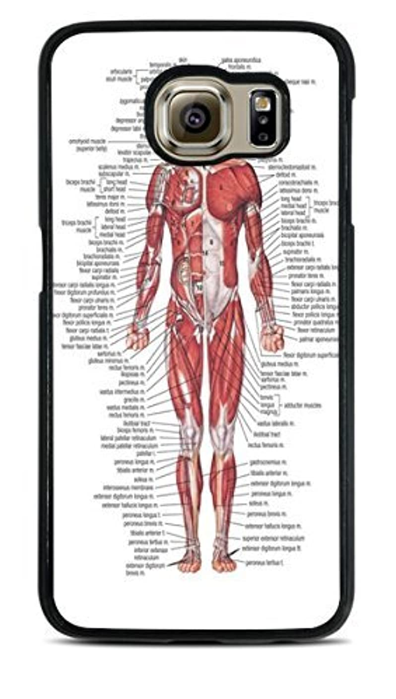 Muscular System Black Silicone Case for Samsung Galaxy S6