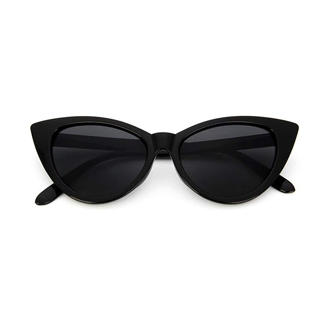 ショートによってホーンMolySun ヴィンテージキャットアイ女性サングラスクラシックセクシーなサングラス女性pcフレーム樹脂レンズ旅行uv400眼鏡メガネ