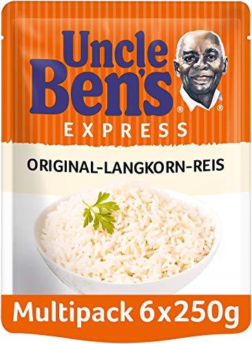 Uncle Ben's Express-Reis Original Langkorn Reis, 6 Packungen (6 x 250g)