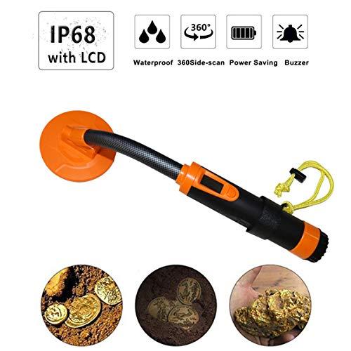Review LMM Underwater Metal Detector, High Sensitive 5M Waterproof Portable Handheld Three Detection Modes for Outdoor,Green (Color : Orange)