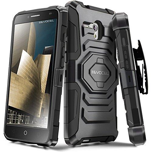 Alcatel OneTouch Fierce XL Case, Evocel [New Generation Series] Belt Clip Holster, Kickstand, Dual Layer for Alcatel OneTouch Fierce XL 5054 (2015 Release), Black
