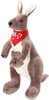 PDGJG Plush Toy - Cute Kangaroo Doll Doll Doll Plush Toy Gray 35cm, 50cm (Color : B, Size : 50cm)