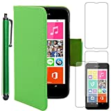 ebestStar - Coque Compatible avec Nokia Lumia 530 Etui PU Cuir Housse Portefeuille Porte-Cartes Support Stand + Stylet + 3 Films...