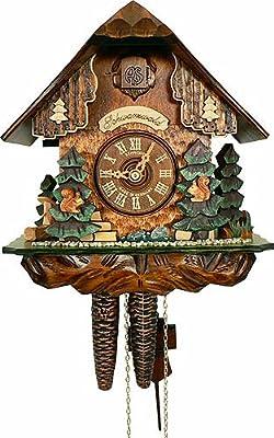 Cuckoo Clock 1-day-movement Chalet-Style 25cm by Anton Schneider