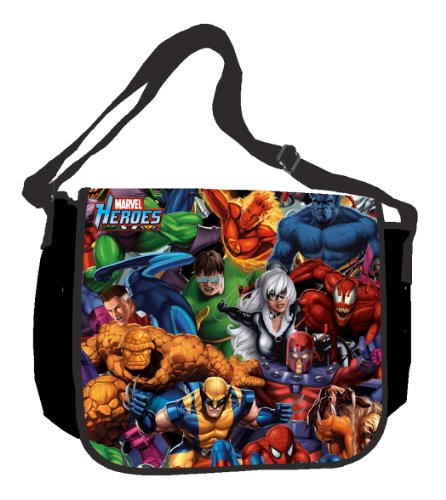 marvel avengers messenger bags Silver Buffalo MH0101 Marvel Heroes 15-Inch by 12-Inch Messenger Bag, Multi-Color