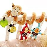 RAILONCH Babyschale Spielzeug, Kinderwagenkette, Baby Activity-Spirale Kette, Tier / Stoff-Spirale...