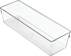 InterDesign Linus Storage Tray, Plastic Organiser Tray, Drawer Organiser System, Clear