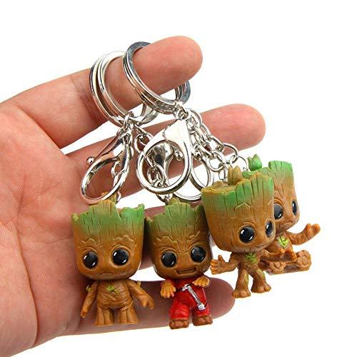 Klauee Groot Keychain, 4 Stück Guardians of The Galaxy Groot Baby Schlüsselanhänger, Freunde und Familie