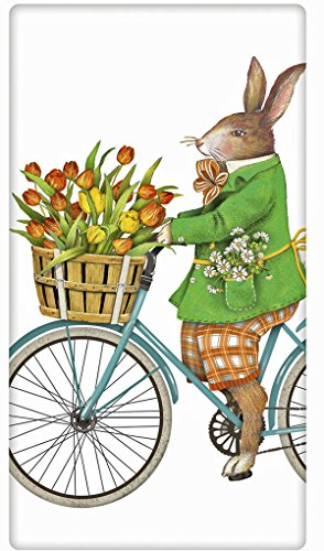 Kaninchen Ostern Bike 100{6b985d934f50949fcc9ba7c957f530534e61fd9dc30b2ef1749f2e8c4cb9d0bf} Baumwolle Mehl Sack Gericht Geschirrtuch–Mary Lake Thompson 76,2x 76,2cm