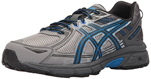 ASICS Men's Gel-Venture 6 Running Shoe, Aluminum/Black/Directoire Blue, 10.5 Medium US